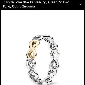 "PANDORA ""INFINITE LOVE"" STACKABLE RING"